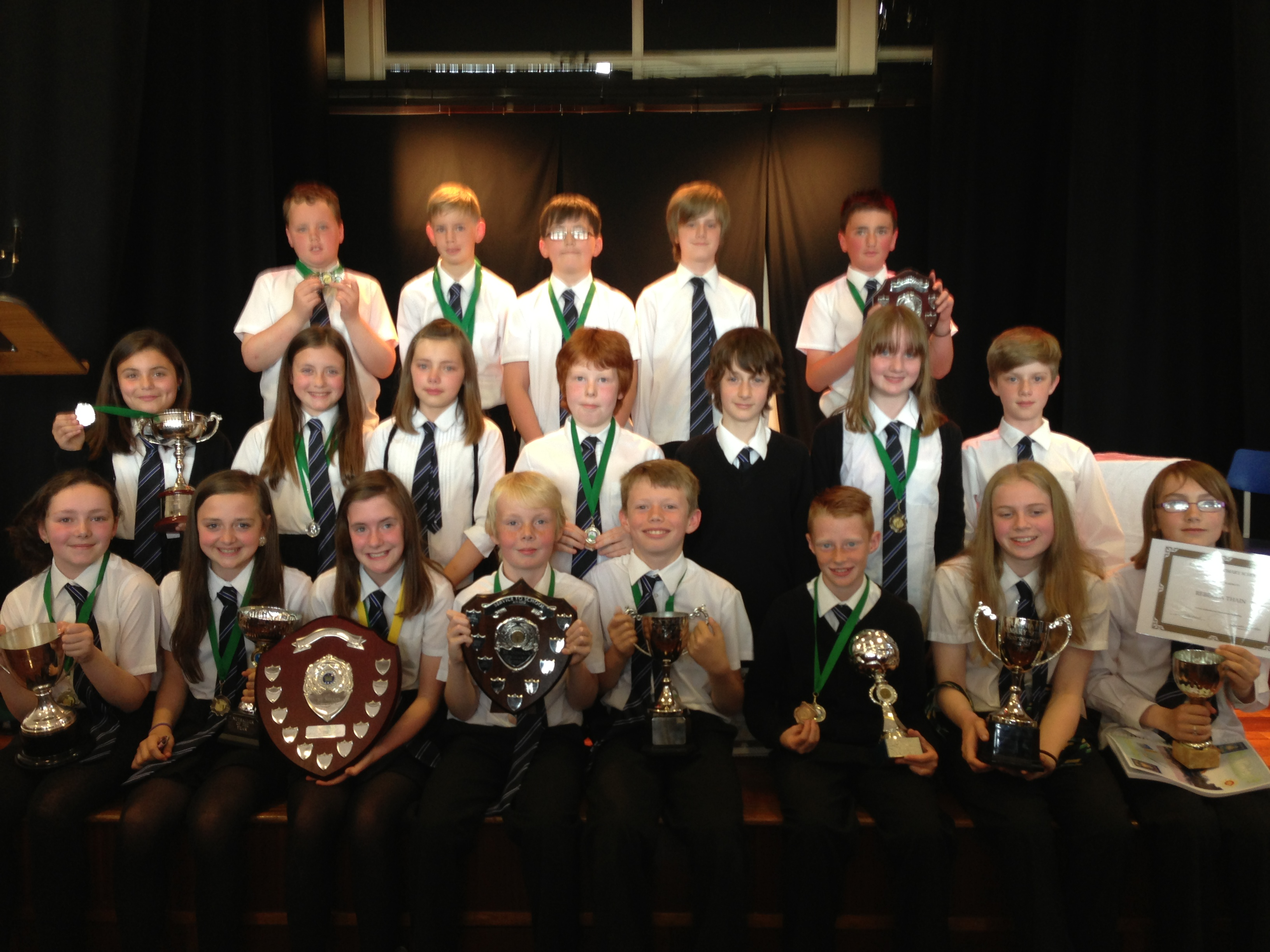 P7s at Prize Giving
